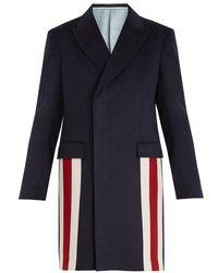 Gucci - Striped-detail Cashmere-blend Coat - Lyst