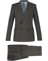 Gucci - Double Breasted Wool Suit - Lyst