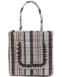 Shrimps - Cormac Checked Wool Bag - Lyst