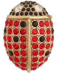 Sonia Rykiel - Ladybird Crystal-embellished Pin Brooch - Lyst