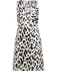 4d415543b43a CALVIN KLEIN 205W39NYC - Women's Graphic Leopard Print Douchesse Dress -  Graphic Leopard - Lyst