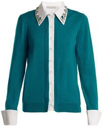 Mary Katrantzou - Bextor Crystal-embellished Wool Cardigan - Lyst