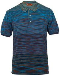 Missoni - Fine Stripe Polo Shirt - Lyst
