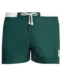 Robinson Les Bains - Wimbledon Contrast-panel Swim Shorts - Lyst