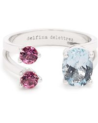 Delfina Delettrez | Aquamarine, Tourmaline & White-gold Ring | Lyst