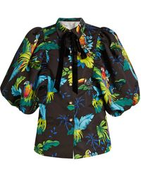 Marc Jacobs - Tropical Bird-print Puff-sleeved Jacket - Lyst