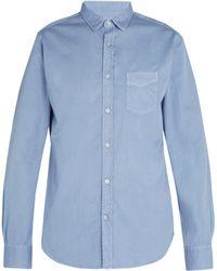 Officine Generale - Lipp Stitch Pigment Dyed Cotton Twill Shirt - Lyst