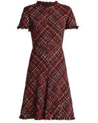 Alexander McQueen - Short-sleeved Tweed Dress - Lyst