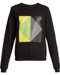 Proenza Schouler - Split Diamond Printed Shrunken Sweatshirt - Lyst