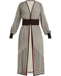 Talitha - Scarf Print Silk Crepe Robe - Lyst