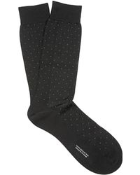 Pantherella - Gadsbury Pin-dot Cotton-blend Socks - Lyst