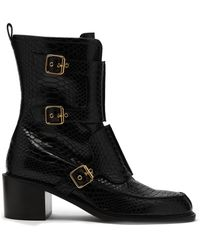 181a4a05727 Stella McCartney - Crocodile Effect Faux Leather Boots - Lyst