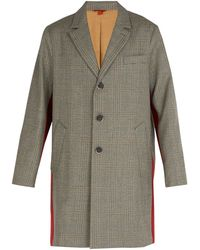 Barena - Prince Of Wales Checked Wool Overcoat - Lyst
