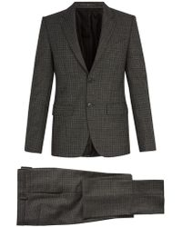Givenchy - Single-breasted Houndstooth Wool Suit - Lyst