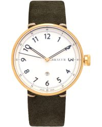 Bravur | Bw102 Stainless-steel And Suede Watch | Lyst
