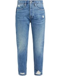 FRAME - Le Pegged Straight Leg Jeans - Lyst