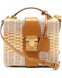 Mark Cross - Harley Rattan Wicker And Leather Box Bag - Lyst