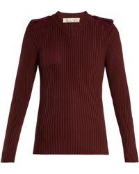 Martine Rose - Sweat-shirt en coton côtelé - Lyst