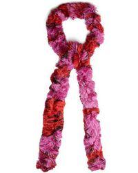 Diamond-laddered knitted scarf Missoni nOc36x