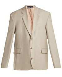 Martine Rose - Oversized Single-breasted Wool Jacket - Lyst