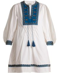 Talitha - Ilaria Bead-embellished Cotton Dress - Lyst