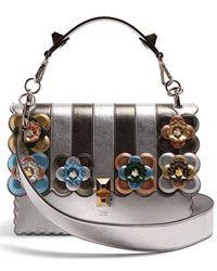 Fendi - Kan I Flower-appliqué Leather Shoulder Bag - Lyst