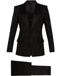 Dolce & Gabbana - Floral Brocade And Satin Three Piece Suit - Lyst