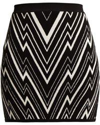 Balmain - Zigzag Knit Mini Skirt - Lyst
