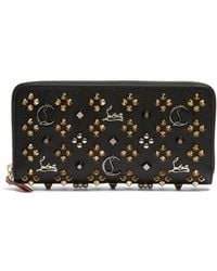 Christian Louboutin - Panettone Embellished Zip Around Leather Wallet - Lyst