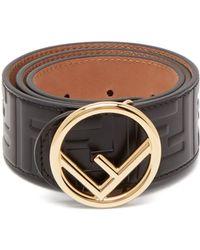 Fendi - Embossed Leather Belt - Lyst