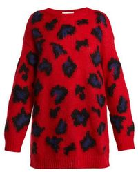 Valentino - Leopard Print Mohair Blend Jumper - Lyst