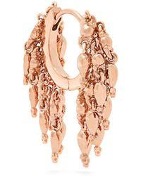 Maria Tash - 18kt Rose Gold Chain Tassel Single Earring - Lyst