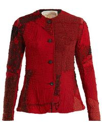 By Walid - - Yoni 19th Century Panelled Silk Jacket - Womens - Red Multi - Lyst
