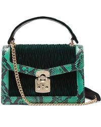 Miu Miu - Confidential Matelassé Quilted Velvet Shoulder Bag - Lyst