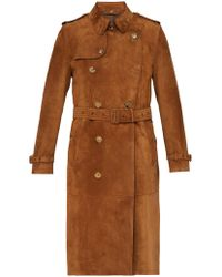 Burberry - The Kensington Suede Trench Coat - Lyst