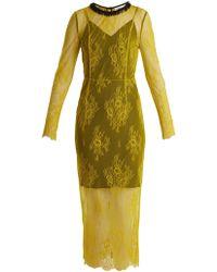 Diane von Furstenberg - Long Sleeved Bead Embellished Lace Dress - Lyst