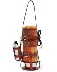 Loewe - - Leather Dog Lead, Feeder Bag & Wool Blanket - Mens - Brown Multi - Lyst