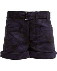 Proenza Schouler - Hand Bleached Cotton Blend Shorts - Lyst