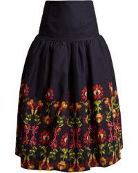 Stella Jean | Embroidered Full Pleated Skirt | Lyst
