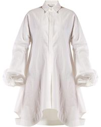 JW Anderson - Balloon Sleeve Cotton Shirtdress - Lyst