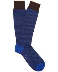 Marni - Geometric-jacquard Cotton-blend Knee-high Socks - Lyst