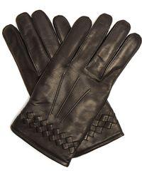 Bottega Veneta - Intrecciato-woven Leather Gloves - Lyst
