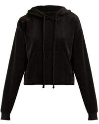 The Upside - Hoya Velour Hooded Sweatshirt - Lyst