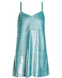 Ashish - Sequin Embellished Silk Georgette Mini Dress - Lyst