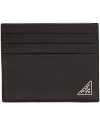 Prada - Saffiano-leather Cardholder - Lyst