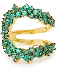 Ana Khouri - Mirian 18kt Gold And Emerald Ring - Lyst