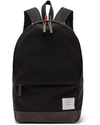 Thom Browne Unstructured Canvas And Suede Backpack
