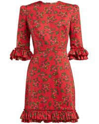 The Vampire's Wife - Festival Gypsy Floral Print Cotton Mini Dress - Lyst