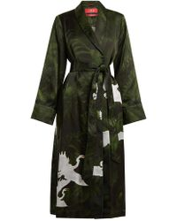 F.R.S For Restless Sleepers | Aegle Flying Swan-print Robe | Lyst
