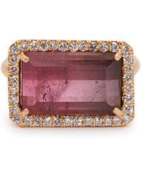Irene Neuwirth - 18kt Rose-gold, Pink Tourmaline & Diamond Ring - Lyst